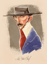 Cartoon: Lee Van Cleef (small) by Martynas Juchnevicius tagged lee van cleef actor famous movie star caricature people