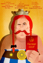 Cartoon: Passport (small) by Martynas Juchnevicius tagged vector caricature actor film star movies politics french gerard depardieu