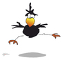 Cartoon: Ausdruckstanz - Das Dreieck (small) by KADO tagged krähe,crow,animal,bird,kado,kadocartoons,cartoon,comic,humor,spass,illustration,dominika,kalcher,austria,styria,graz,ausdruckstanz,free,dance,dreieck,triangle