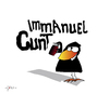 Cartoon: Immanuel (small) by KADO tagged draw,zeichnen,art,kunst,styria,graz,steiermark,austria,illustration,cartoon,spass,humor,comic,kalcher,dominika,kadocartoons,kado,vogel,bird,animal,crow,krähe,philosophie,philosophy,immanuel,kant,cunt,graffiti