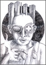 Cartoon: Non-Neuro Psychosis. (small) by murderama tagged pencils,paper,horror,death,dreaming
