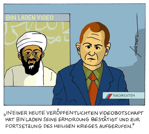 osama bin laden cartoon images. Cartoon: Die Welt nach Osama