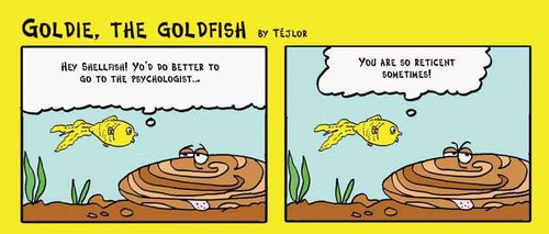 Cartoon: Goldie the goldfish (medium) by tejlor tagged goldfish