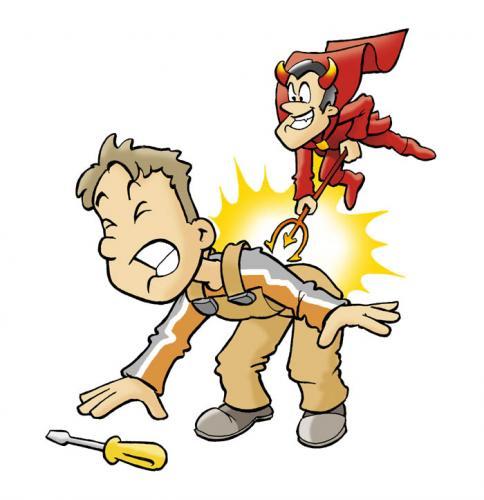 Cartoon: pain (medium) by hansoleherbst tagged pain,devil,demon,
