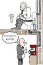 Cartoon: Ekelhafter Kaffee (small) by Habomiro tagged habomiro,kaffee,klo,toilette,wc,00,kaffeemaschine,büro