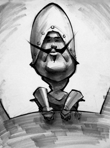 Cartoon: Mikey_MPHG_French1a (medium) by mikeyzart tagged caricature,french,knight,taunt,taunting,marker,movies,monty,python,holy,grail