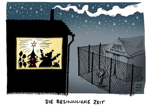 besinnliche weihnachtszeit by schwarwel politics cartoon. Black Bedroom Furniture Sets. Home Design Ideas