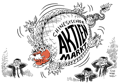 Cartoon: Börsencrash China Angst (medium) by Schwarwel tagged börsencrash,börse,crash,aktie,aktien,china,angst,blase,platzt,bank,banker,karikatur,schwarwel,drache,börsencrash,börse,crash,aktie,aktien,china,angst,blase,platzt,bank,banker,karikatur,schwarwel,drache