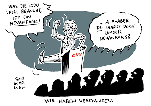 Cartoon: CDU nach der Europawahl (medium) by Schwarwel tagged cdu,wahl,wahlen,europawahl,annegret,kramp,karrenbauer,parteivorsitzende,merkel,politik,politiker,deutschland,rezo,youtube,kommunalwahlen,klimapolitik,klimawandel,klimakrise,rücktritt,andrea,nahles,spd,wahlsieg,afd,groko,koalition,parteispitze,schwesig,dreyer,gümbel,cartoon,karikatur,schwarwel,cdu,wahl,wahlen,europawahl,annegret,kramp,karrenbauer,parteivorsitzende,merkel,politik,politiker,deutschland,rezo,youtube,kommunalwahlen,klimapolitik,klimawandel,klimakrise,rücktritt,andrea,nahles,spd,wahlsieg,afd,groko,koalition,parteispitze,schwesig,dreyer,gümbel,cartoon,karikatur,schwarwel