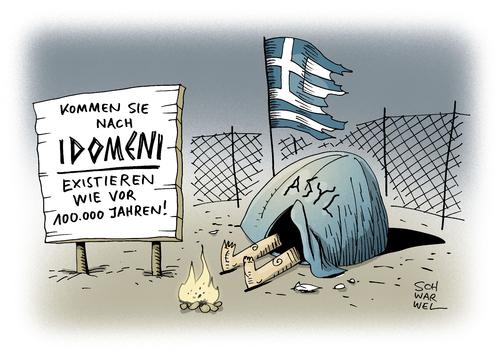 Cartoon: Idomeni Flüchtlingscamp (medium) by Schwarwel tagged idomeni,flüchtlingscamp,norbert,blüm,besuch,menschenunwürdig,flüchtlinge,geflüchtete,flüchtlingslager,flüchtlingspolitik,katastrophalen,zustände,balkanroute,flucht,asyl,asylsuchende,griechenland,ai,weiwei,karikatur,schwarwel,idomeni,flüchtlingscamp,norbert,blüm,besuch,menschenunwürdig,flüchtlinge,geflüchtete,flüchtlingslager,flüchtlingspolitik,katastrophalen,zustände,balkanroute,flucht,asyl,asylsuchende,griechenland,ai,weiwei,karikatur,schwarwel