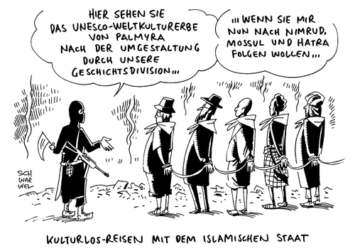 Cartoon: IS zerstört Kulturerbe Palmyra (medium) by Schwarwel tagged islamischer,staat,islam,is,zerstört,kulturerbe,palmyra,zerstörung,kultur,mord,terror,gewalt,karikatir,schwarwel,folter,vergewaltigung,ausrottung,kurden,terrormiliz,säulen,baal,tempel,weltkulturerbe,syrien,naher,osten,ruinenstadt,extremisten,extremistengruppe,islamischer,staat,islam,is,zerstört,kulturerbe,palmyra,zerstörung,kultur,mord,terror,gewalt,karikatir,schwarwel,folter,vergewaltigung,ausrottung,kurden,terrormiliz,säulen,baal,tempel,weltkulturerbe,syrien,naher,osten,ruinenstadt,extremisten,extremistengruppe