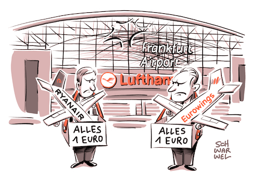 Cartoon: Ryanair in Frankfurt (medium) by Schwarwel tagged ryanair,frankfurt,flughafen,airport,billiganbieter,airline,airlines,billigflüge,lufthansa,flugzeug,fliegen,urlaub,eurowings,billigflieger,homebase,heimatbasis,billigtochter,karikatur,schwarwel,ryanair,frankfurt,flughafen,airport,billiganbieter,airline,airlines,billigflüge,lufthansa,flugzeug,fliegen,urlaub,eurowings,billigflieger,homebase,heimatbasis,billigtochter,karikatur,schwarwel