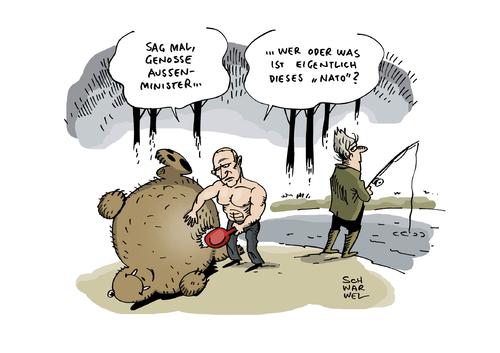 Cartoon ukraine krise moskau nato medium by schwarwel tagged