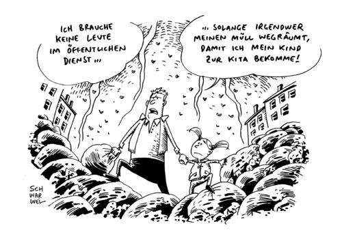 Küchenleiter Öffentlicher Dienst ~ warnstreiksöffentlicher dienst by schwarwel business cartoon toonpool