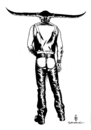 Cartoon: black leather (small) by Schwarwel tagged illustration,schwarwel,black,leder,fetisch,fetish
