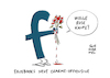 Cartoon: Facebook nach Datenaffäre (small) by Schwarwel tagged facebook,mark,zuckerberg,social,media,soziale,netzwerke,www,world,wide,web,online,profil,gefällt,mir,like,likes,post,postings,account,daten,datenschutz,datenaffäre,cartoon,karikatur,schwarwel,charmeoffensive,datenskandal,portal,portale,datenfirma,cambridge,analytica,nutzerdaten,virtual,reality,tech,konzern,silicon,valley,wahlkampf,donald,trump,us,usa,amerika,america,president,präsident,wahl,datenschutzbehörde,techlash,plattform,internet