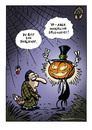 Cartoon: Halloween-Cartoon (small) by Schwarwel tagged halloween,schwarwel,el,depressvio,schweinevogel,kürbis,fledermaus,erleuchtung,grusel,gruselig,spinne,allerheiligen,brauch,sitte,amerika,irland,vorabend,festtag,jack,oldfield,verkleidung,schmuck,deko,geister,hexen,zombies,elfe,skelett,vampir,schwarz,orange