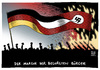 Cartoon: Pegida Politiker Verstädnis (small) by Schwarwel tagged pegida,politiker,verständnis,montagsdemostration,demo,demonstration,rechts,nazi,karikatur,schwarwel