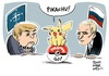 Cartoon: Pokemon go (small) by Schwarwel tagged pogemon,go,putin,russland,merkel,nato,eu,europäische,union,karikatur,schwarwel,west,westen,osten,ost