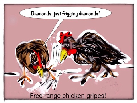 Cartoon: chicken feed (medium) by Toonopia tagged chickens