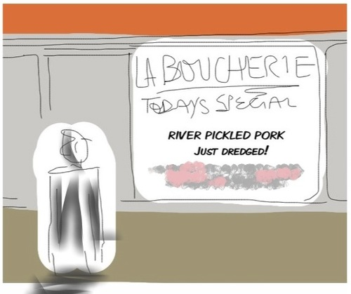 Cartoon: pickling (medium) by Toonopia tagged pig