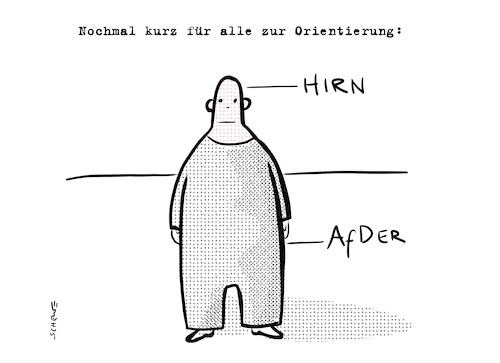Cartoon: afder (medium) by Josef Schewe tagged afd,wahlkampf,bundestagswahl,election,gauland,hoecke,petry,weidel,nazi,brain,asshole,brown,braun,afd,wahlkampf,election,gauland,hoecke,petry,weidel,nazi,brain,asshole,brown,braun