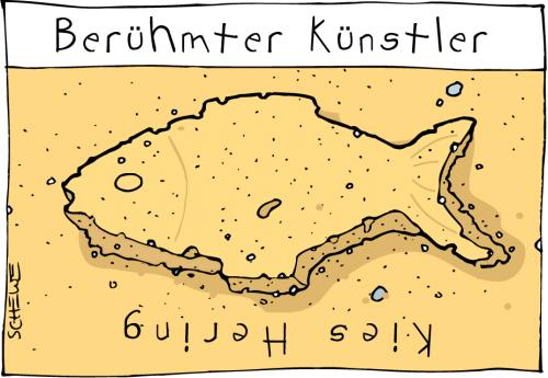 Cartoon: Künstler (medium) by Josef Schewe tagged schewe,künstler,keith,haring,sand,artist,sandkasten,beach,kunst,künstler,fisch,sand,sandburg,hering,keith haring,sandkasten,strand,berühmt,berühmtheit,keith,haring