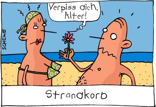 Strandkorb comic  Strandkorb By Josef Schewe | Love Cartoon | TOONPOOL