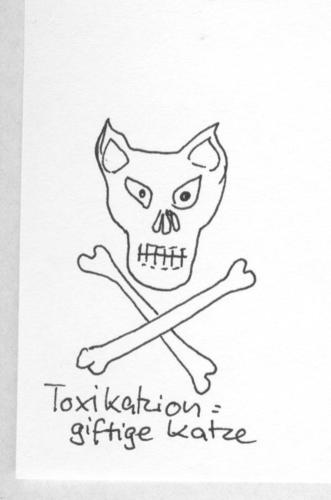 Cartoon: Katzenlexikon (medium) by manfredw tagged tox,gift,katze
