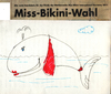 Cartoon: Bikini Wal (small) by manfredw tagged bikini,wahl,wal,sprache,hören,denken,sehen
