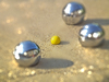 Cartoon: Boule (small) by Peter Losch tagged sommer,sonne,feierabend,spiele,freunde,geselligkeit