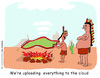 Cartoon: cloud computing (small) by roy friedler tagged cloud,computing,indians,smoke