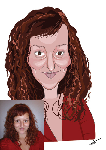 Cartoon: woman caricature (medium) by tinotoons tagged caricature,woman,redhead