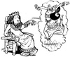 Cartoon: Wasti soll tanzen! (small) by Comiczeichner tagged wasti,bibel,altes,testament,esther,könig,tanz,babylon
