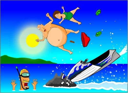 Jet Ski By Undertoon Nature Cartoon Toonpool