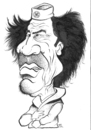 Cartoon: MUAMMER AL QADDAFI (small) by halileser tagged muammer,al,qaddafi