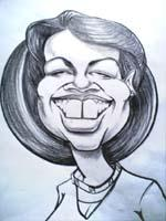 Cartoon: Condolezza Rice (medium) by lukas tagged artstix,markers,