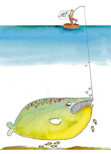 Cartoon: - (medium) by romi tagged sea,fishing,boat,fish,rod