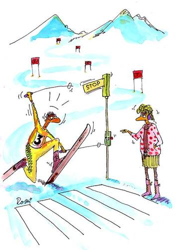 Cartoon: - (medium) by romi tagged ski,skiing,winter,switch,semaphore,stop