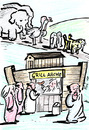 Cartoon: Grill-Arche (small) by bob tagged arche,noah,imbiss,grill,bibel
