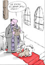 Cartoon: Küss die Braut (small) by bob tagged kirche,ehe,trauung,pfarrer,priester,braut,bräutigam,bibel,hase,rammeln,bob,cartoon