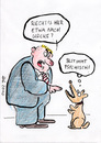 Cartoon: olfaktorische Halluzination (small) by bob tagged hund