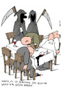 Cartoon: the guests (small) by bob tagged death,tod,gäste,guests