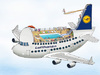 Cartoon: Airbus A380 Contest (small) by toonpool com tagged airbus380 airbus lufthansa plane flugzeug contest