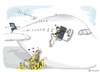 Cartoon: Airbus A380 Contest (small) by toonpool com tagged lufthansa airbus380 airbus plane flugzeug contest