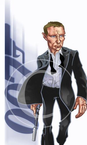 James Bond Caricature By Nolanium Famous People Cartoon