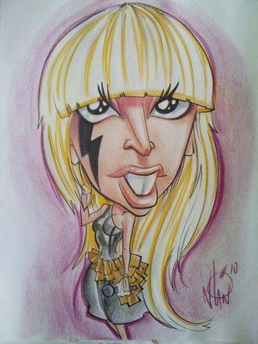 Cartoon: Lady Gaga Caricature (medium) by nolanium tagged lady,gaga,