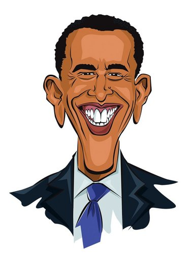 Barack Obama By Abdul Salim | Famous People Cartoon | TOONPOOL