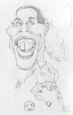 Cartoon: Ronaldinho (small) by Abdul Salim tagged caricature,ronaldinho,pencil