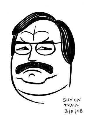 Cartoon: toon 07 (medium) by kernunnos tagged man,guy,head,face,mustache,nose,eyes,ears,gaaaa